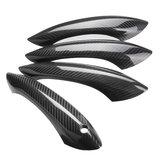 4PCS Real Couvercle de poignée de porte en fibre de carbone sans type de capteur LED pour BMW F07 F10 F11 520i 528i 535i M5