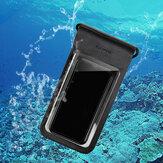 GUILDFORD IPX8 Wasserdichte Telefontasche Bildschirm Berühren Sie Unterwasserschwimmen Tauchen TPU + PET-Telefontasche