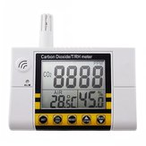 Digital Wall Mount Indoor Air Quality Temperature RH Carbon Dioxide CO2 Tester Sensor Detector 0~2000 ppm Range
