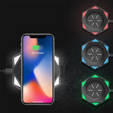 Bakeey 10W Qi Wireless Fast شحن Stand Dock هاتف شاحن لـ Samsung S10 لـ iPhone 8 XS 11 أبيض / أسود