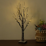 60cm LED Snow Tree Lamp Night Light Decor de Noël pour l'éclairage de la maison Festival Holiday