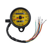 Motorcycle Dual Odometer KMH Night Vison Speedometer Gauge Meter LED Backlight Signal Light