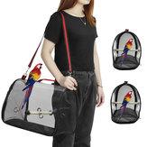 Pássaro ao ar livre sacos de ombro papagaio portátil transportar gaiola pet espaço respirável pet transportadora bag