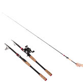 Zanlure 1.98/2.1/2.4/2.7m Fishing Rod Telescopic Lightweight Carbon Fiber Spinning Fishing Pole