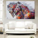 Canvas Running Horse Art Print Pinturas Sem Moldura Retrato da parede Colorful Cartaz para Sala de estar Decoração de Casa