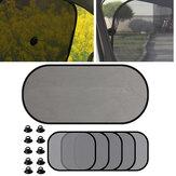 5Pz Schermo per visiera parasole per auto Schermo per finestrino posteriore per auto Schermo per tenda parasole