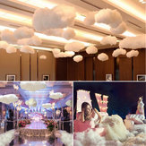 3D Artificial Clouds White Cloud Cotton Home Stage Wedding Party Prop Decorations
