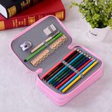72 Delikli Ceza Kalem Kılıf Eskiz Renkli Kalem Çanta Çocuk Kalemi için Büyük Kapasiteli Çanta Kırtasiye Kılıfı Depolama Malzemeleri