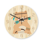 Loskii CC036 Creative Wall Reloj Mute Wall Reloj Cartoon Wall Reloj para decoraciones de oficina en casa