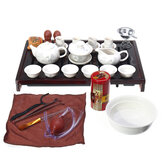 China Kung Fu Tea Set Drinkware Ceremony Ceramic Tea Pot Cup Infuser Tea Tray