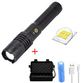 XANES® XH-P50 1000 Lumens LED Zoomable Flashlight 18650 Battery USB Rechargeable 3 Modes Work Lamp