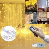 3M * 3M Outdoor USB 8 modalità 300LED Tenda String Light Fairy Christmas Lights Matrimonio lampada Festival Holiday Decor