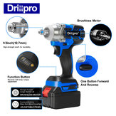 Drillpro Blue Impact Wrench Brushless Cordless Electric Wrench Power Tool 320N.M Torque without Battery