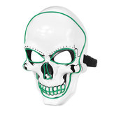 Halloween LED Light Skull Head Face Mask Carnival Night Cosplay Costume Props
