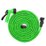25-200FT US/EU Standard Expandable Magic Flexible Green Garden Water Hose Car Hose Pipe Connectors Plastic Hose Garden Watering Sets w/ Water Shower