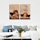 Miico Hand Painted Combination Decorative Paintings Angel Been Thinking Wall Art For Home Decoration