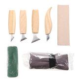 7ピース木彫りカッターピーリングカーブ木工彫刻カービングツールセット