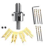 13pcs 6-12mm perline di legno perline trapano punta fresa set di utensili per la lavorazione del legno fai da te