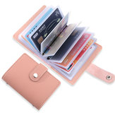 26 Card Slots Portable Leather Wallet Anti-theft Brush Shield NFC/RFID Card Holder