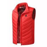電気暖房ベスト屋外ジャケット冬スポーツハイキングのための柔軟な熱服チョッキ