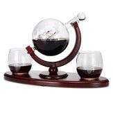 Kit de jarra de garrafa de garrafa de vidro de 850 ml com 2 canecas para espírito Chá