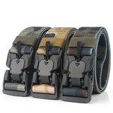 AWMN S5S 125cm Nylon Camouflage Tactical Belt Plastic Magnetic Buckle Belt