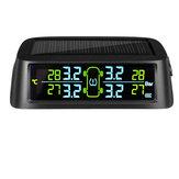 C700 Солнечная TPMS Температура Давление в шинах Монитор Цифровой LCD Дисплей Водонепроницаемы
