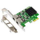 Placa de Rede PCI-E Gigabit Ethernet SSU 8120-T2 2 Portas 1000Mbps Placa de Expansão PCI Express RJ45 SSU 8120-T2 para Desktop PC
