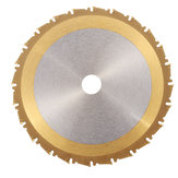 Drillpro 24T 210mm TCT Circular Saw Blade Nano Blue or Titanium or Bronze Coating Woodworking Cutting Disc