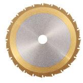Drillpro 24T 210mm TCT cirkelzaagblad Nano Blauwe of titanium of bronzen coating Houtbewerkingsschijf