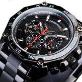 Forsining GMT1138 Week Display Waterproof Mecânico Relógio