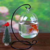 Aquarium Fish Tank Verre Suspendu Bol Fleur Plante Vase Table Fish Bowl Hauteur 15 cm pour Betta Fish Pet Products