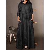 Women Loose FrontZipper Side Pockets Hooded Dress