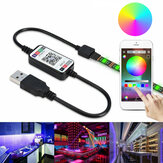 0.5m 2m 3m 5m 5050 Waterdichte bluetooth APP Controle RGB USB LED Strip Licht Buiten KTV Hotel Home Decor Kerstversiering Opruiming Kerstverlichting