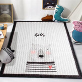 145*195CM Soft Cotton Baby Kid Game Activity Play Crawling Mat Carpet Non-Slip Floor Mat