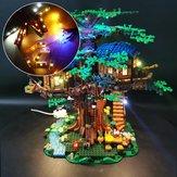 DIY LEDライト照明キットはレゴ21318アイデアツリーハウスビルディングブロックレンガ専用