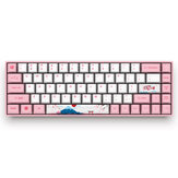 Akko 3068 World Tour - Tokyo 68 touches bluetooth 3.0 USB la cerise Sublimation MX Commutateur Clavier PBT Clavier mécanique de jeu
