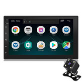 7 Inch 2 Din for Android 8.1 Car Radio Stereo Auto MP5 MP3 Player Quad Core 1+16G GPS Touch Screen bluetooth Wifi FM With Rearview Camera