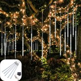 AC110-240V 50 CM Tahan Air IP65 180LED Meteor Shower Rain 5 Tabung String Cahaya Holiday Party Natal Dekorasi Luar Ruangan