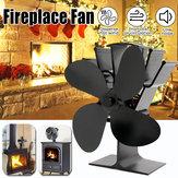 IPRee®UpGrade4LamesVentilateur de foyer Ventilateur de chaleur thermique Ventilateur de poêle à bois