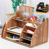 Wooden Desktop Organizer Office Supplies Storage Rack Wooden Desk Organizer Home Office Supply Storage Rack