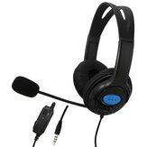 Gaming Headset 3.5mm + USB Wired Omnidirectional Headphone Deep Bass Earphone With Mic for PS4