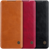 NILLKIN Flip Shockproof with Card Slot Holder Full Cover PU Leather Vintage Protective Case for Samsung Galaxy S20 Ultra