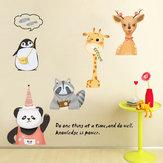 Miico XC9044 Tier Aufkleber Wandaufkleber Kinderzimmer Wanddekoration Aufkleber DIY Aufkleber