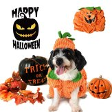 Dog Halloween Costume Dog Collar Pumpkin Design Creative Funny Pet Clothes Decorations
