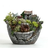 Clay Sky Garden Succulent Planter Flower Pots Cacti Moss Bonsai Plant Pot Basket Box