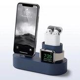 Đế sạc nhanh silicon 3 trong 1 Đế giữ điện thoại cho Apple Watch 1/2 Airpods IPhone X