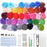 40 Color Soft Wool Felt Mat Starters DIY Knitting Craft Felting Needle Tool Set Sewing Tools