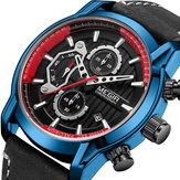 MEGIR2104KronografDeriKayışlıKuvars Saat