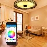 LED RGB Ceiling Light bluetooth Sound Lamp APP Remote Control 100-240V